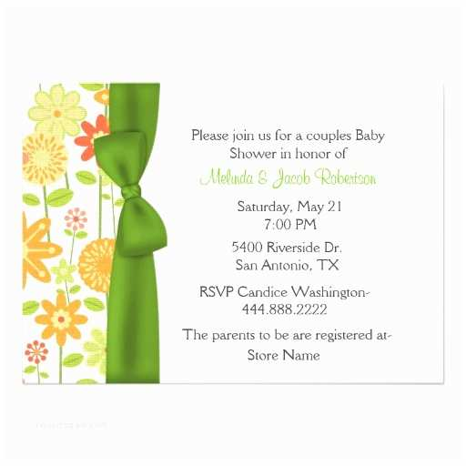 stylish floral couples baby shower invitation