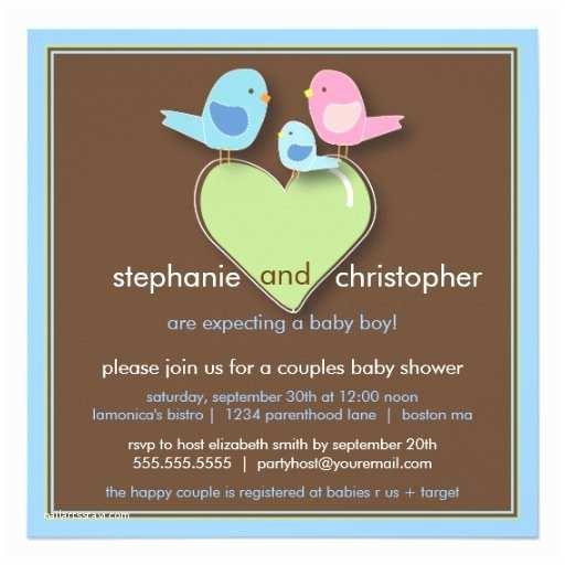Couple Baby Shower Invitations Sweet Bird Family Couples Baby Shower Invitation