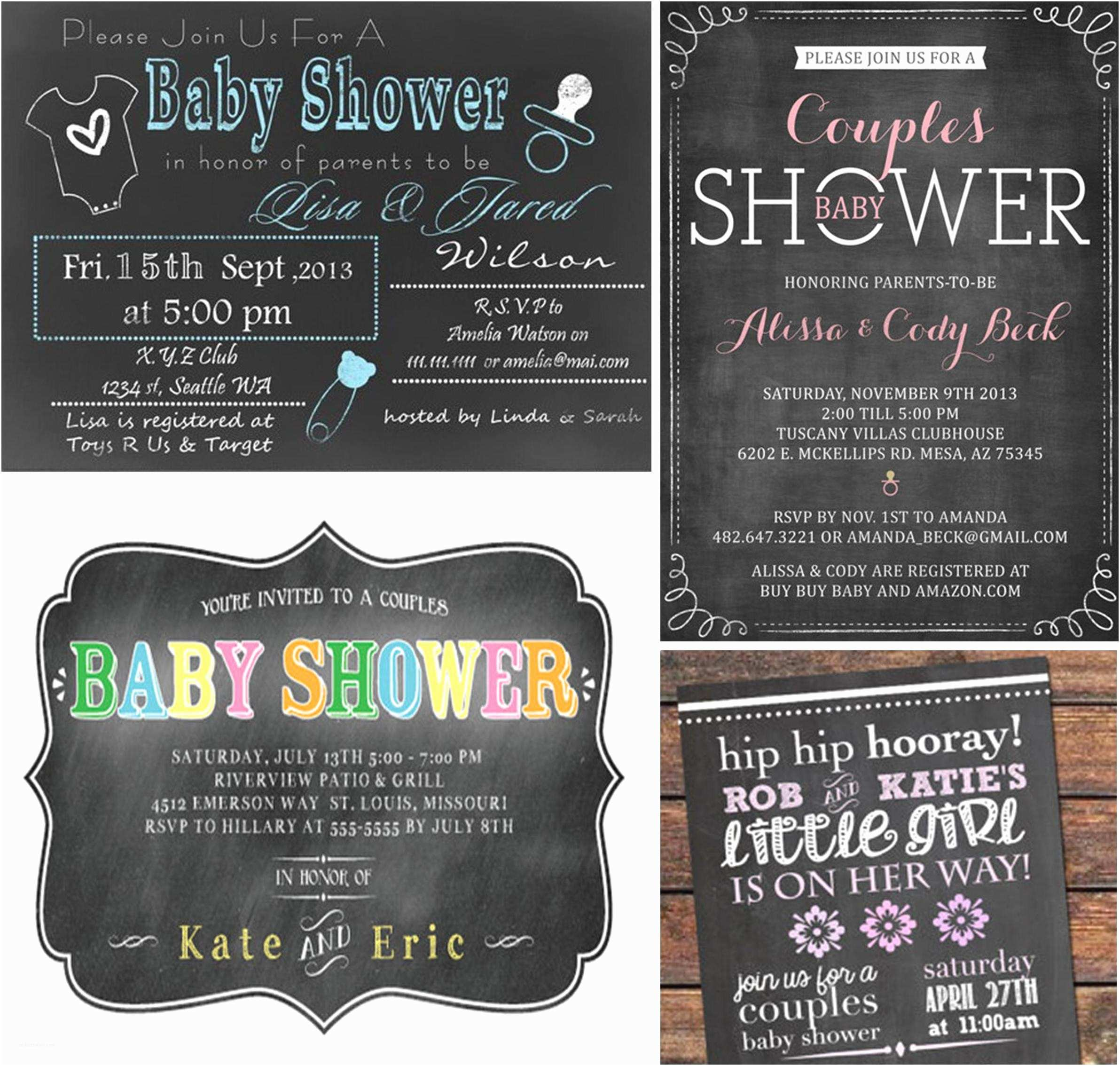 Couples Baby Shower Invitation Wording Couples Baby Shower Invitations
