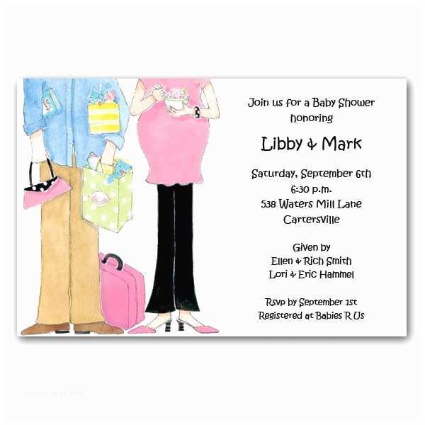 Couples Baby Shower Invitation Wording Expecting Couple Baby Shower Invitations