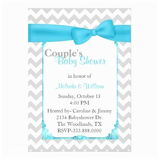 "Couples Baby Shower Invitations Stylish Chevron Couple S Baby Shower Invitation 5"" X 7"