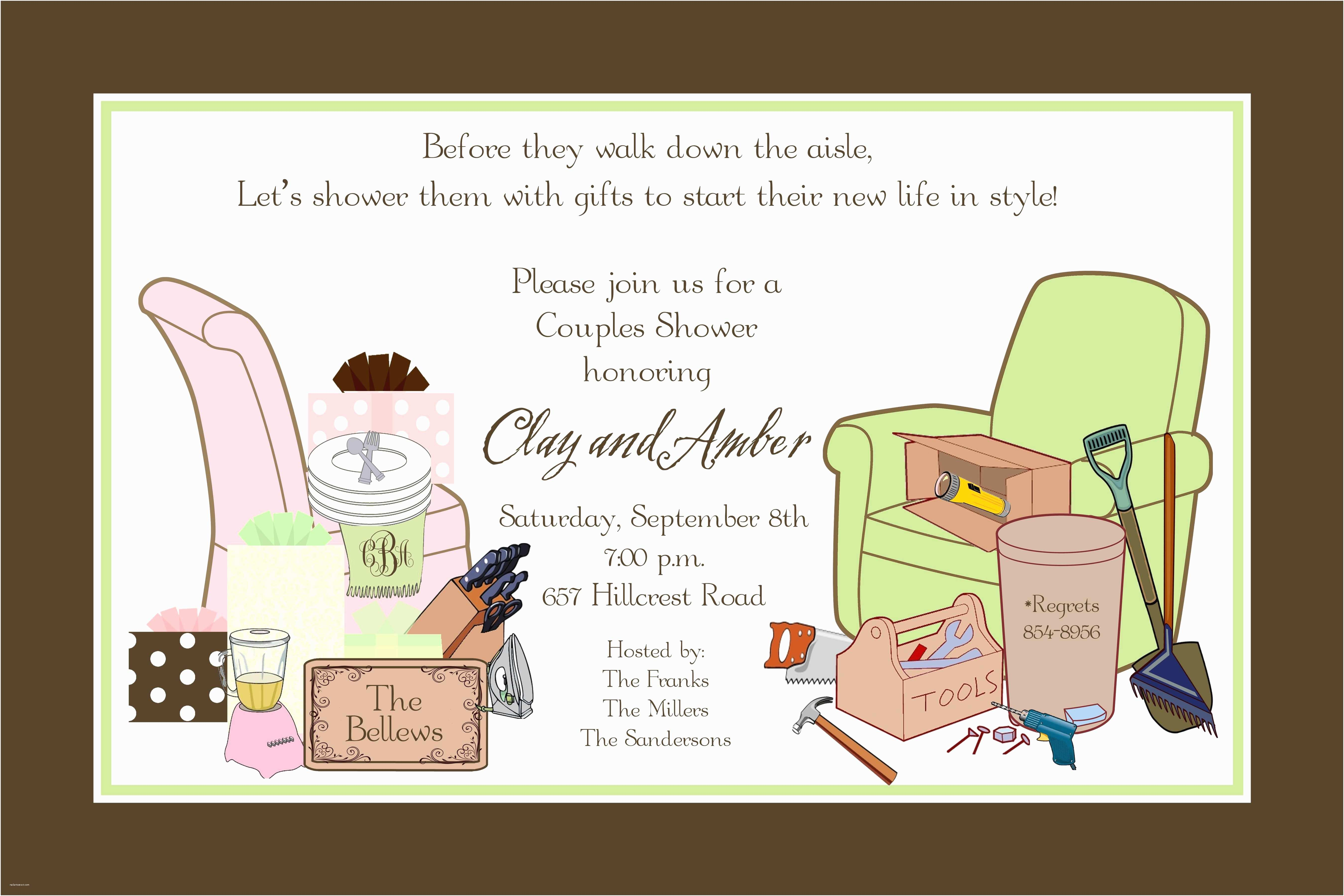 Couples Bridal Shower Invitations Bridal Shower Couples Wedding Shower Invitations Card