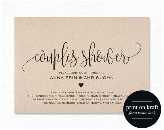 Couples Bridal Shower Invitations Couples Shower Invitation Couple Shower Wedding Shower