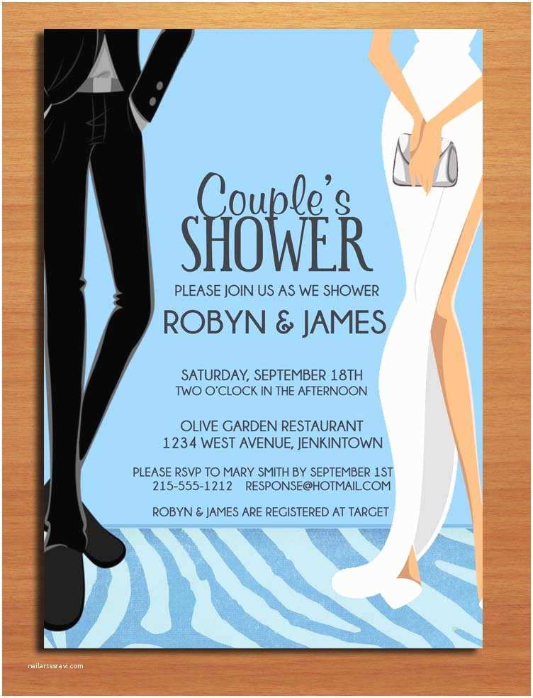 Couples Bridal Shower Invitations formal Dress Couple S Bridal Shower Customized Printable