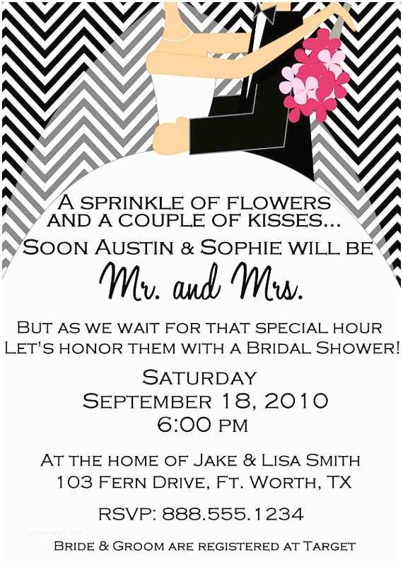 Couples Bridal Shower Invitations Invitation Wording for Couples Bridal Shower Yaseen for