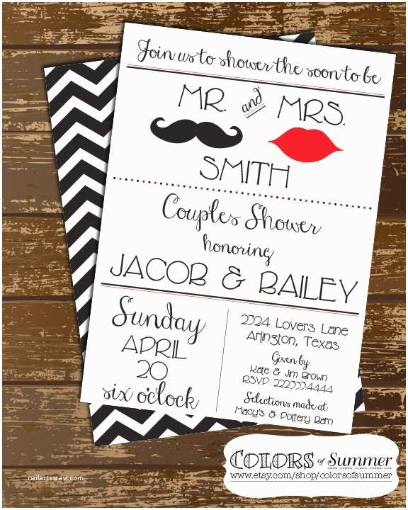 Couples Bridal Shower Invitations Mr and Mrs Couples Shower Invitation Wedding Shower Invite