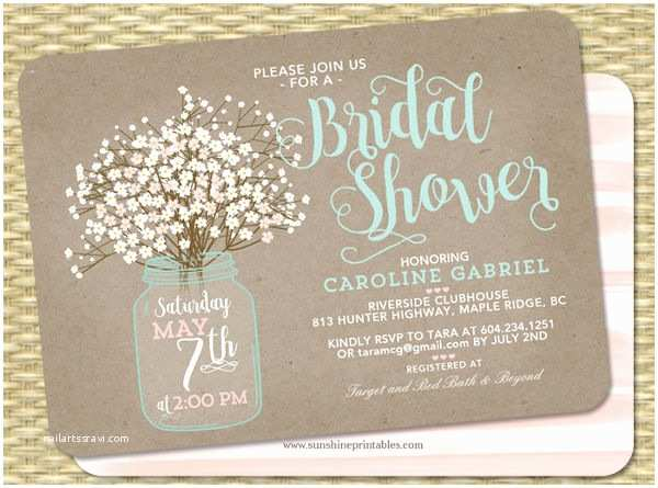 Couples Bridal Shower Invitations Printable Bridal Shower Invitations