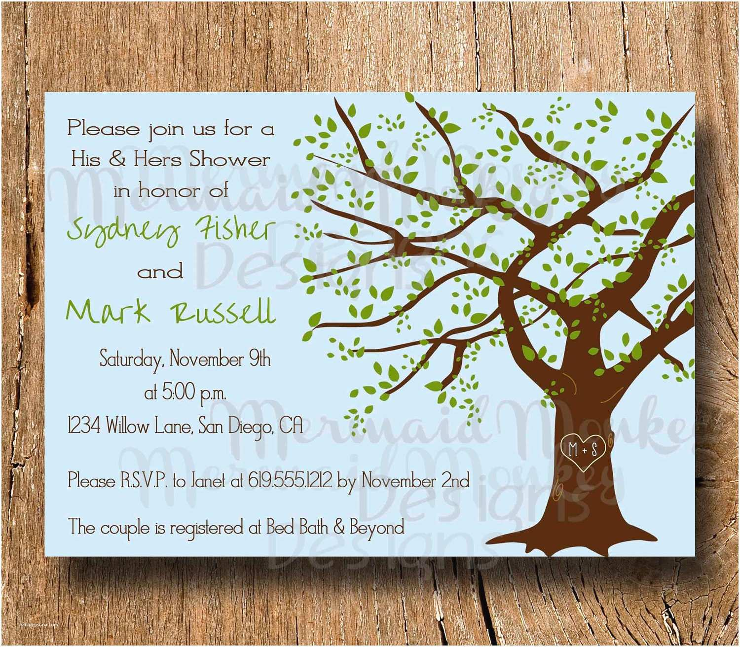 Couples Wedding Shower Invitations Couples Shower Invitation Wedding Shower by
