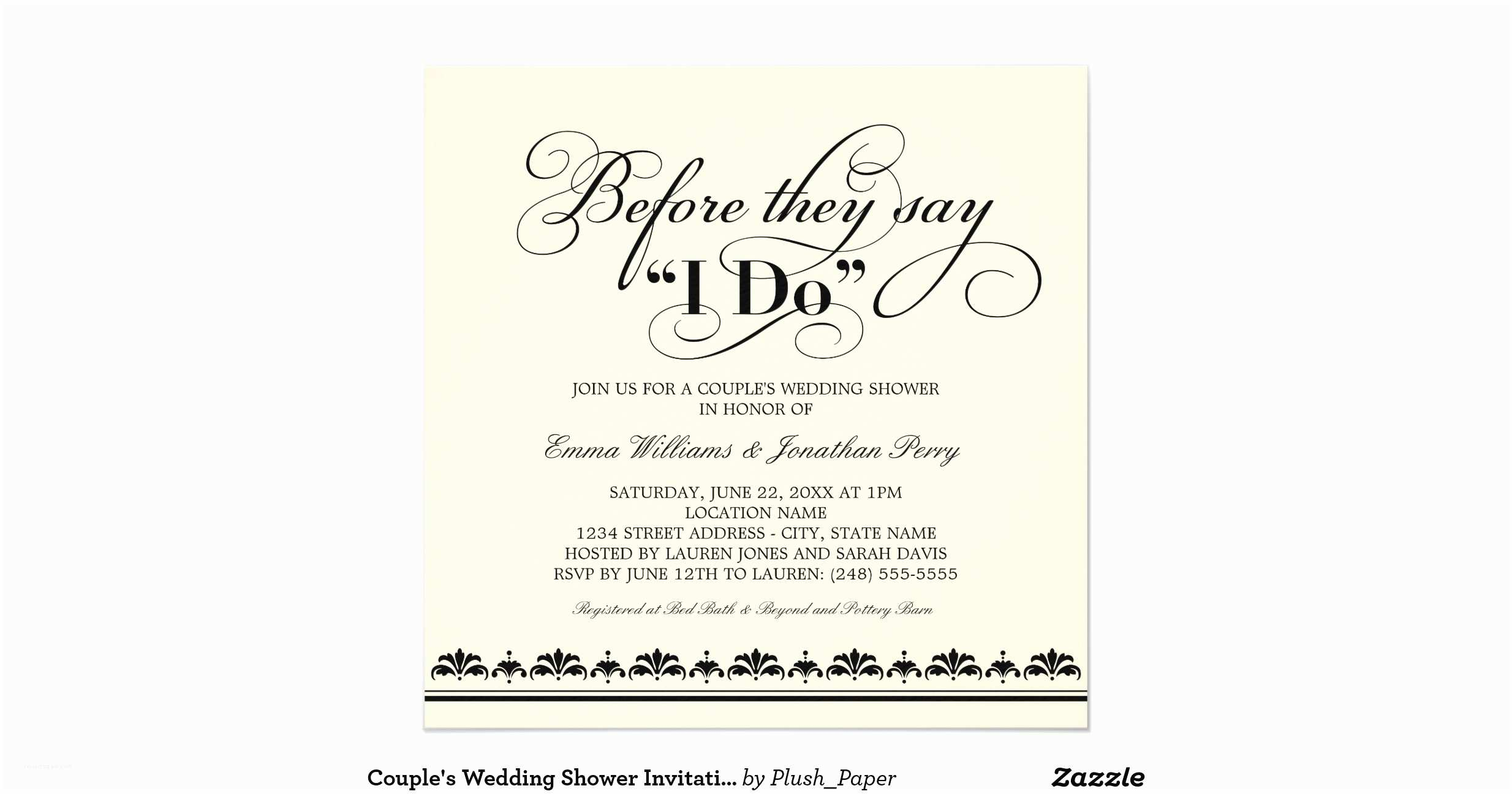 couples wedding shower invitations couples wedding shower invitation wedding vows