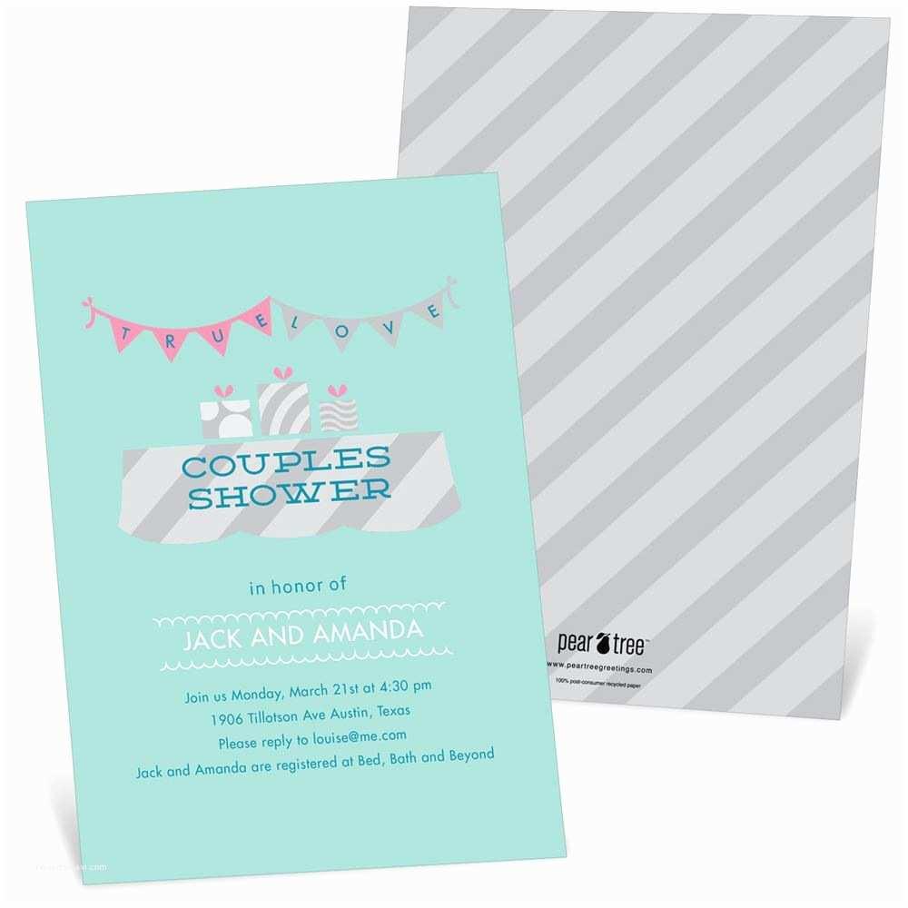 Couples Wedding Shower Invitations Cute Couple Bridal Shower Invitations