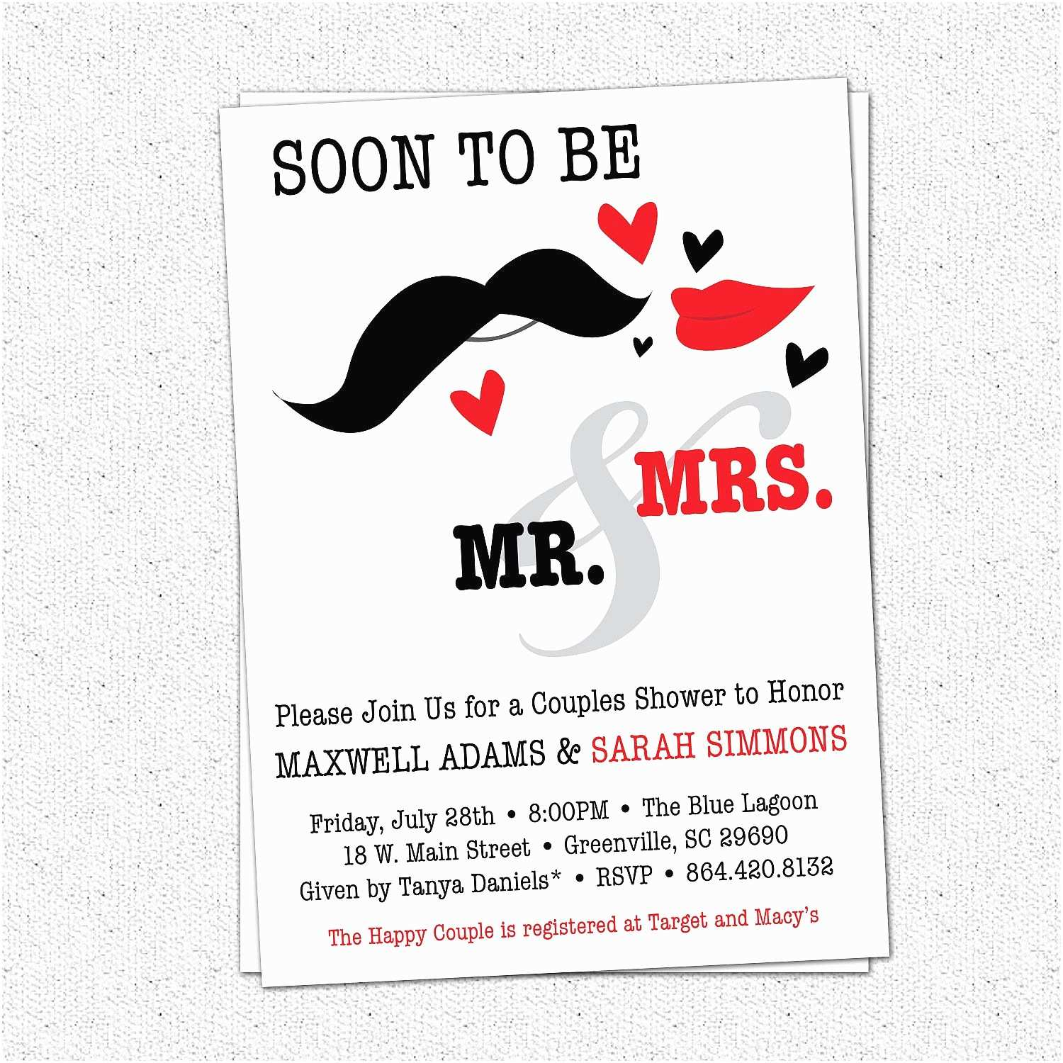 Couples Wedding Shower Invitations Templates Free Bridal Shower Couples Wedding Shower Invitations Card