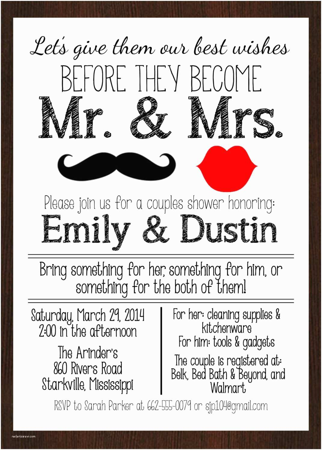 Couples Wedding Shower Invitations Templates Free Printable Mr & Mrs Couples Wedding Shower Invitation Lips