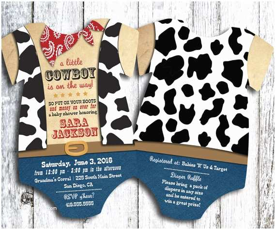 Cowboy Baby Shower Invitations Cowboy Baby Shower Invitation Western Shower Invite Cow