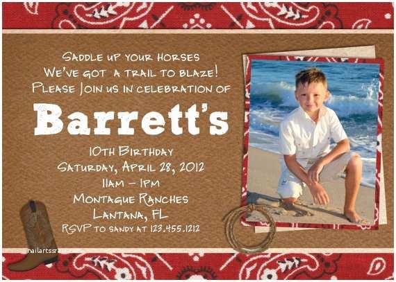 Cowboy Birthday Invitations Free Printable Cowboy Birthday Invitations