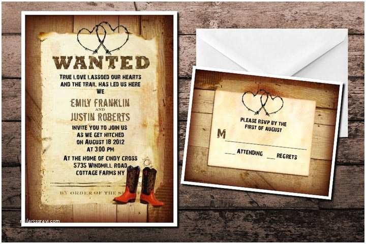 Cowboy Boot Wedding Invitations 10 Funny and Inspiring Informal Wedding Invitation Wordings
