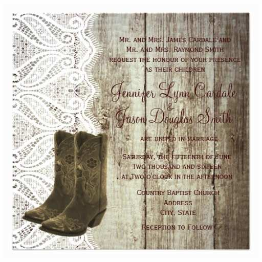 "Cowboy Boot Wedding Invitations Bring Your Boots Cowboy Wedding Invitations 5 25"" Square"