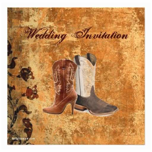 Cowboy Boot Wedding Invitations Country Cowboy Boots Western Wedding Invitation