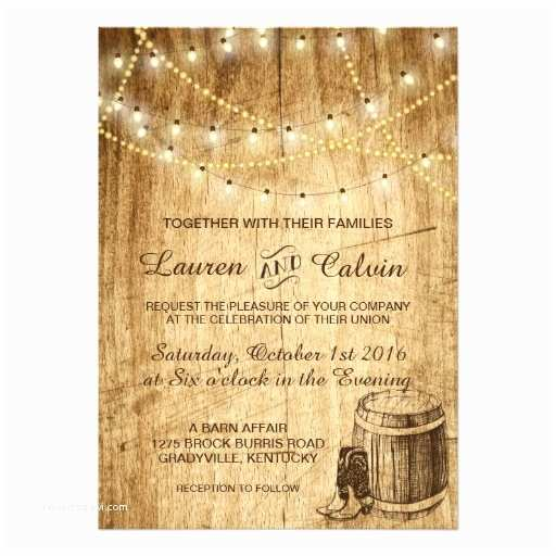 Cowboy Boot Wedding Invitations Country Wedding Invitation with Cowboy Boots