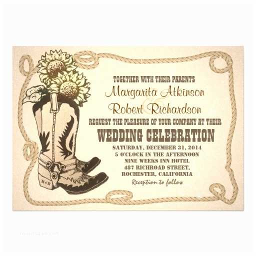 Cowboy Boot Wedding Invitations Personalized Cowboy Boots Invitations