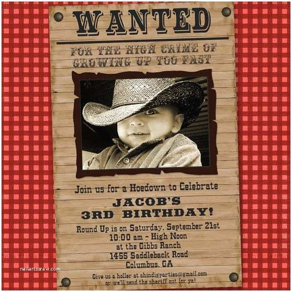 Cowboy Party Invitations 11 Beautiful and Unique Looking Western Birthday