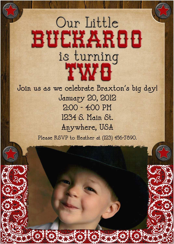 Cowboy Party Invitations Cowboy Birthday Party Invitation Boy Girl Western
