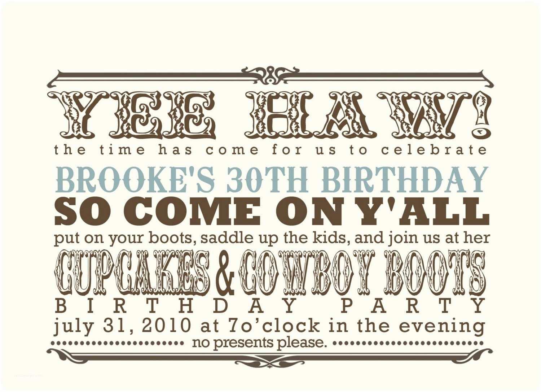 Cowboy Party Invitations Cowboy Boot Invitation