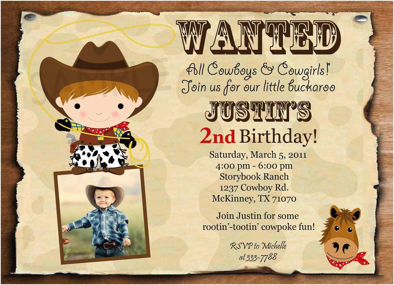 Cowboy Party Invitations Exciting Cowboy Birthday Invitations — Liviroom Decors