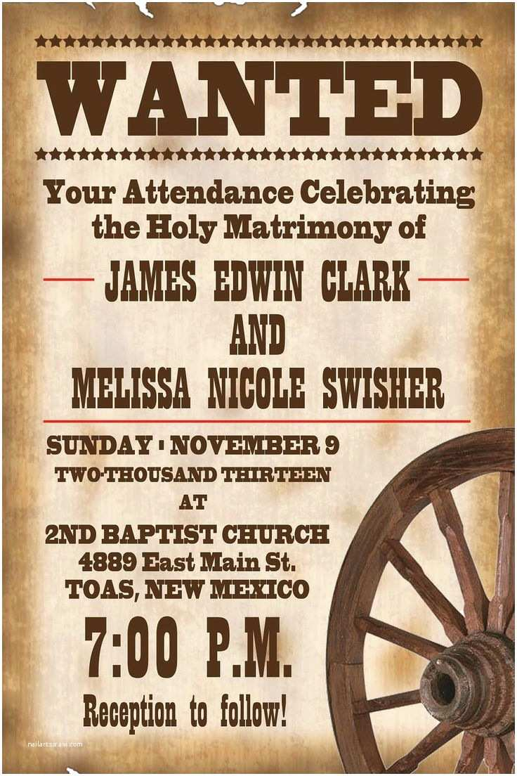 Cowboy Wedding Invitations Templates 25 Best Ideas About Western Invitations On Pinterest