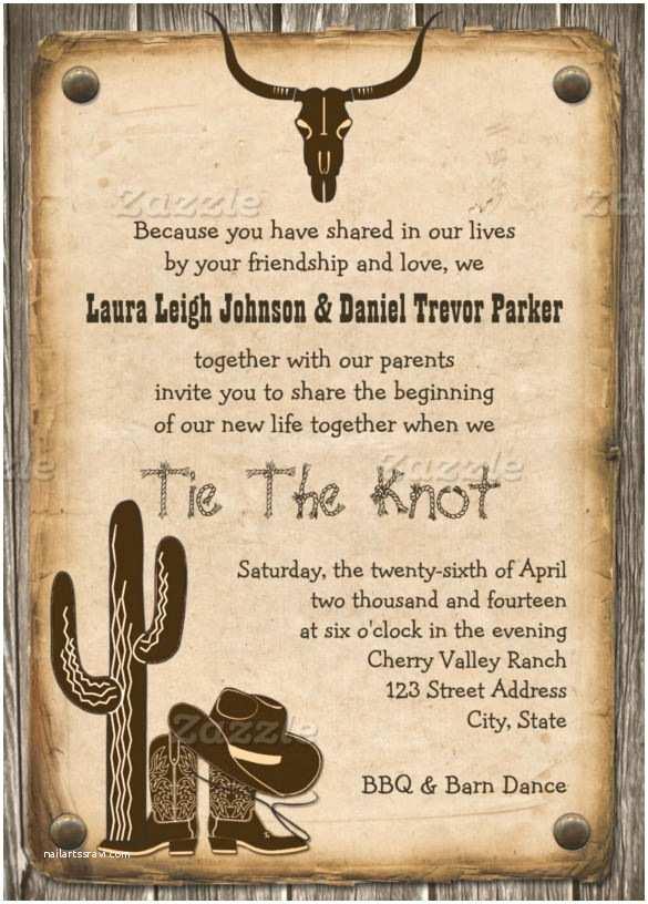 Cowboy Wedding Invitations Templates 28 Western Wedding Invitation Templates – Free Sample