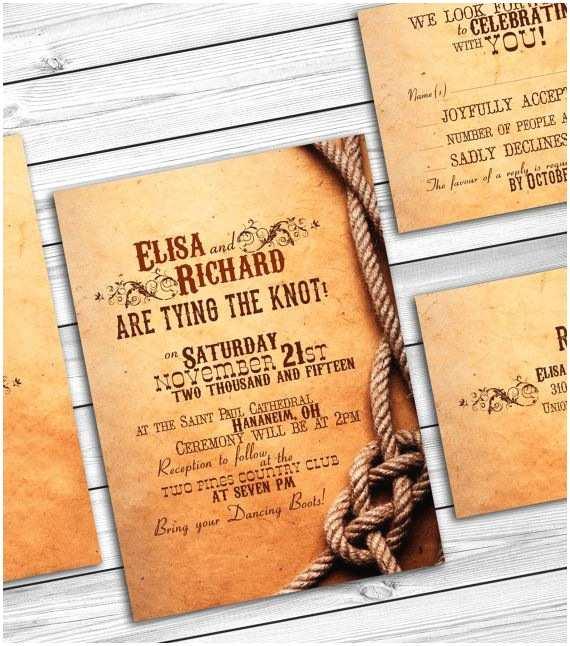 Cowboy Wedding Invitations Templates Rustic Country Wedding Invitations Barn Wedding Western
