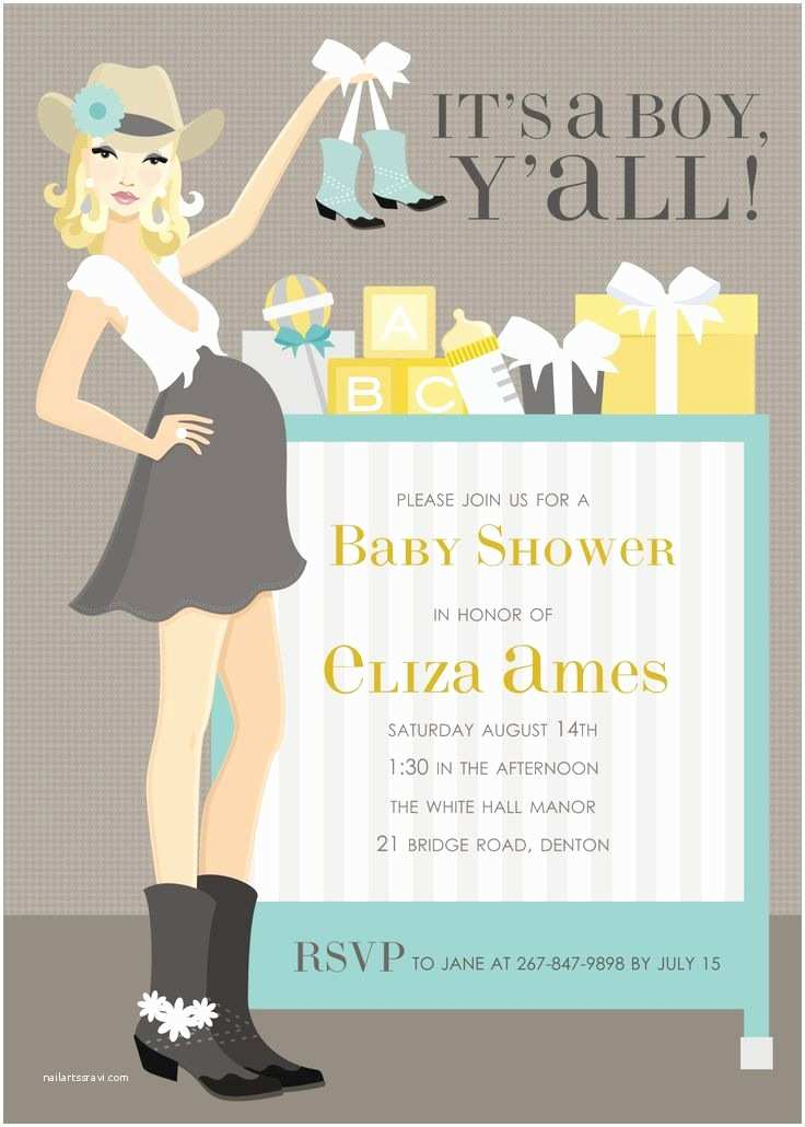Cowgirl Baby Shower Invitations 26 Best Baby Shower Invitations Images On Pinterest