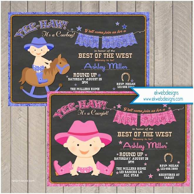 Cowgirl Baby Shower Invitations Cowboy Baby Shower Invitation Cowgirl Baby Shower