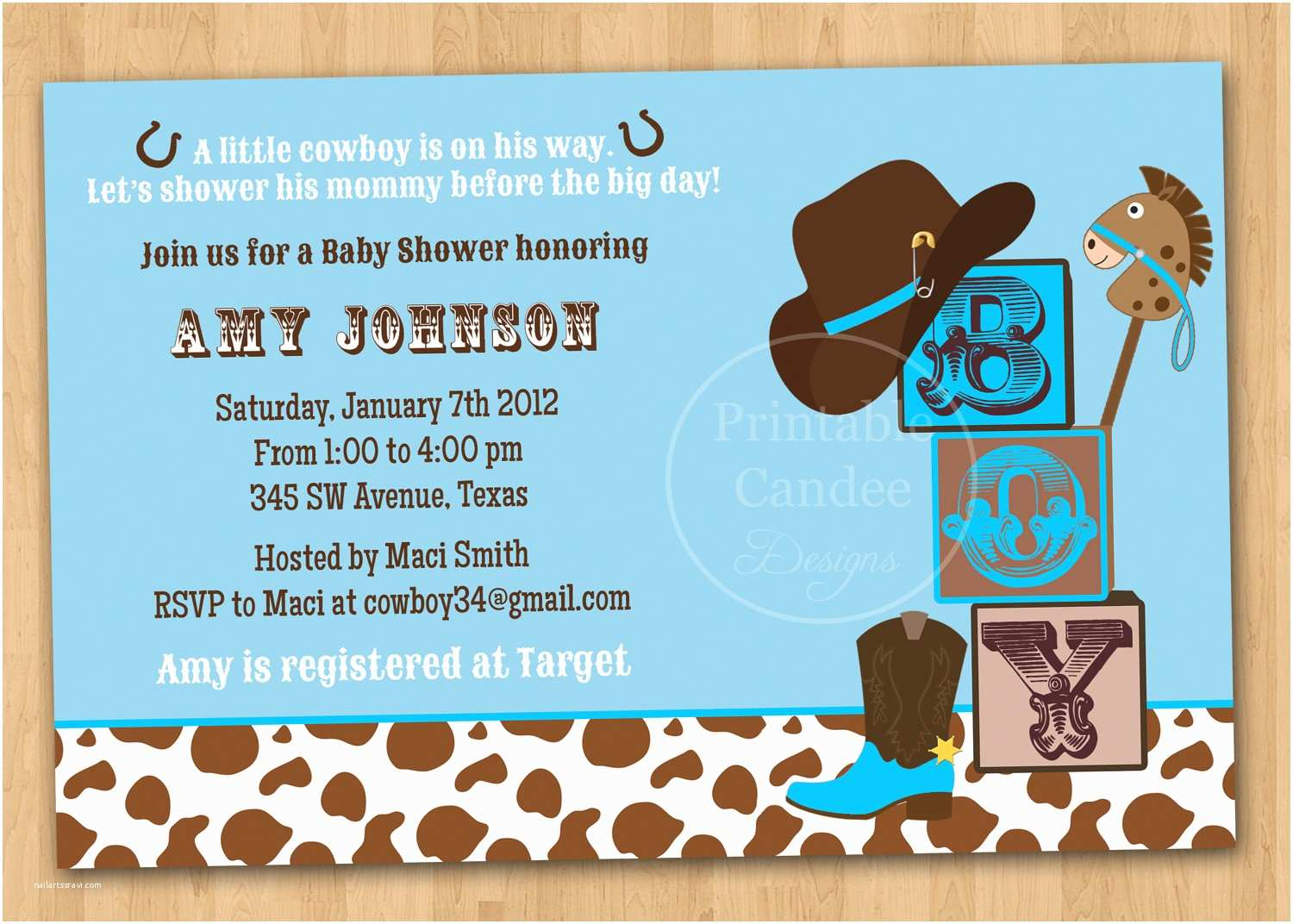 Cowgirl Baby Shower Invitations Cowboy Baby Shower Invitations
