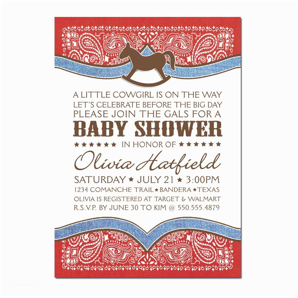 Cowgirl Baby Shower Invitations Cowgirl Baby Shower Invitation Free