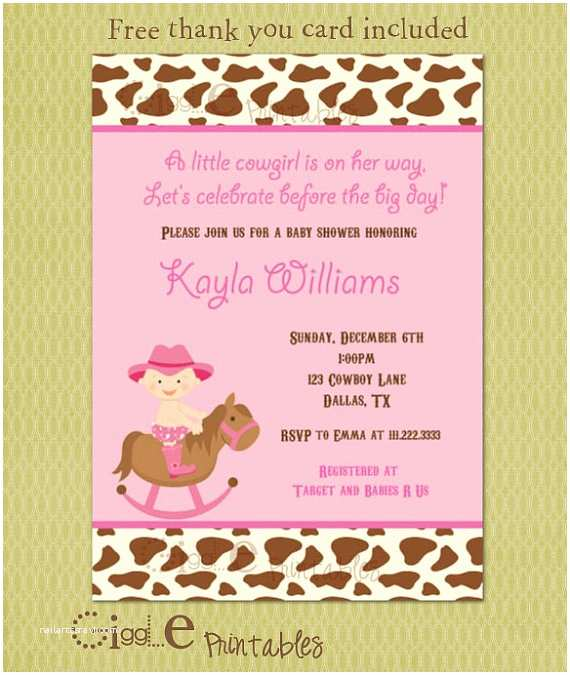 cowgirl baby shower invitation free utm source=Pinterest&utm medium=PageTools&utm campaign=