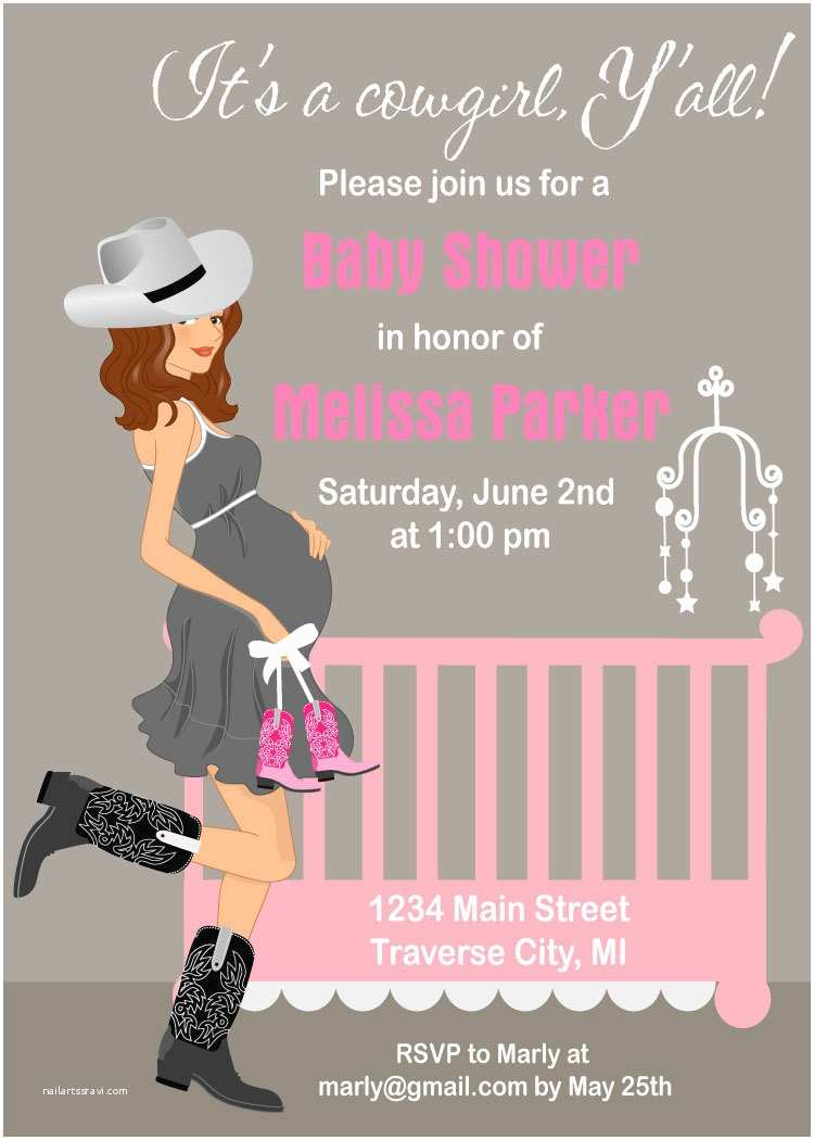 Cowgirl Baby Shower Invitations Cowgirl Baby Shower Invitations Western theme