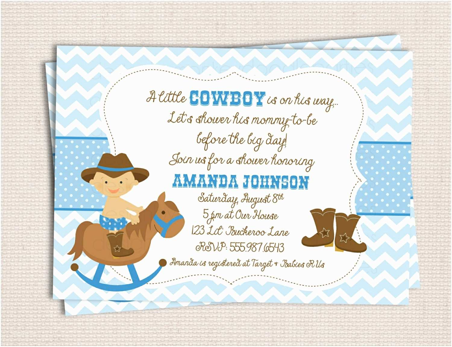 Cowgirl Baby Shower Invitations Western Baby Shower Invitations