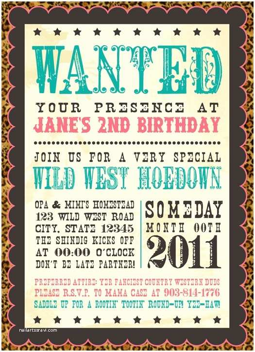 Cowgirl Birthday Invitations Allison D Mct Winklepleck these are so Cute Western