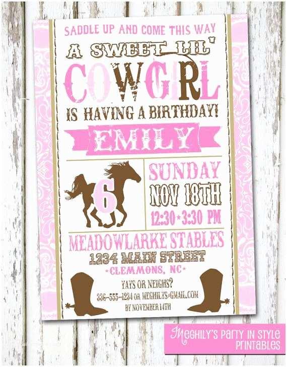Cowgirl Birthday Invitations Best 25 Cowgirl Birthday Invitations Ideas On Pinterest