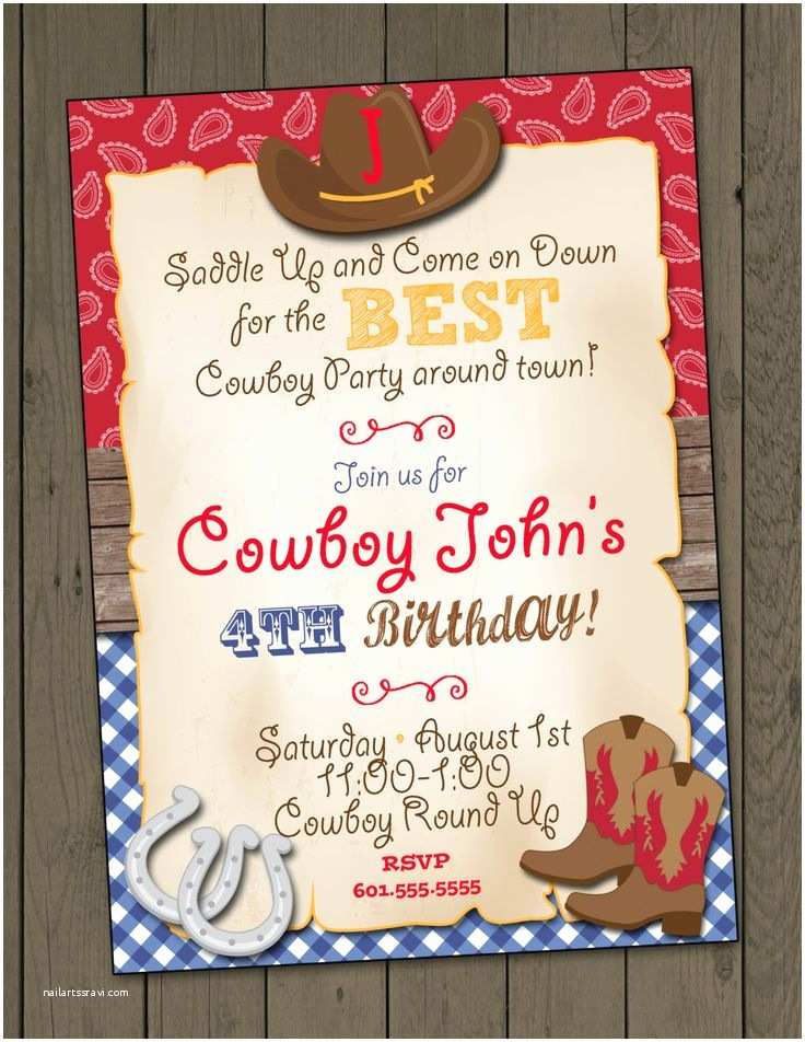 Cowgirl Party Invitations Best 25 Cowboy Party Invitations Ideas On Pinterest