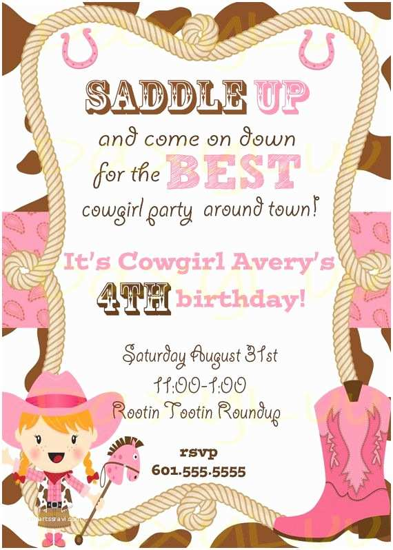 Cowgirl Party Invitations Best 25 Cowgirl Birthday Invitations Ideas that You Will