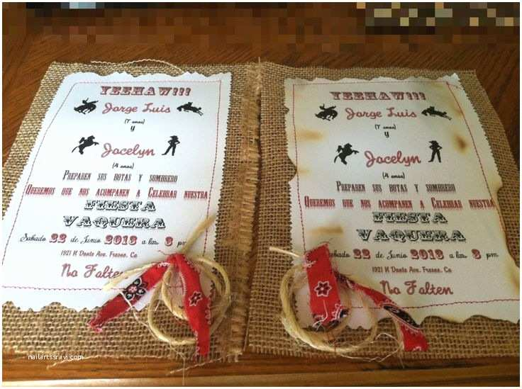 Cowgirl Party Invitations Cowboy Party Invitations