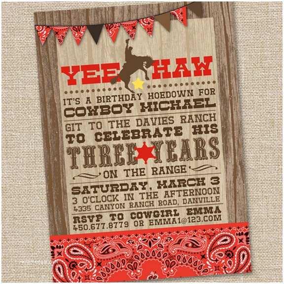 Cowgirl Party Invitations Yee Haw Western Cowboy Invitation Printable Cowboy