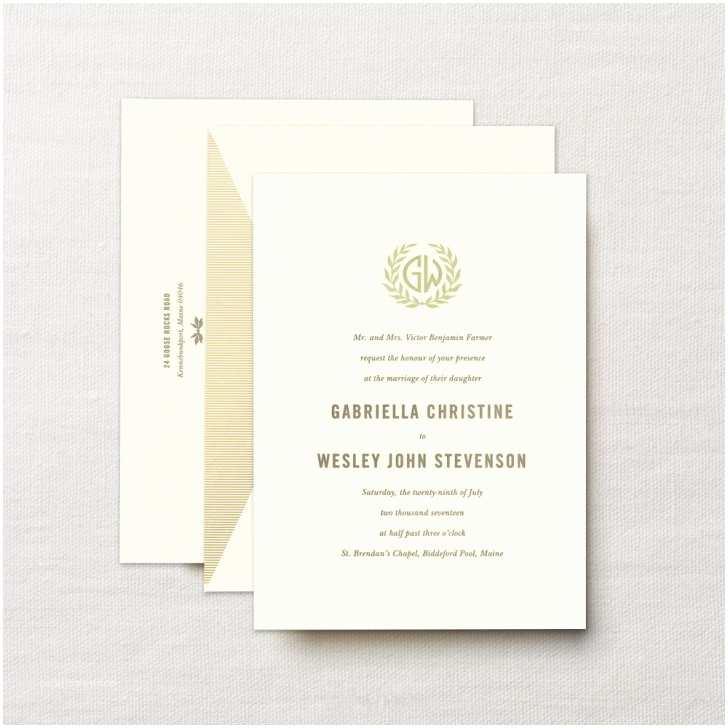 Crane and Co Wedding Invitations Letterpress Embassy Laurel Wedding Invitation Nice Crane