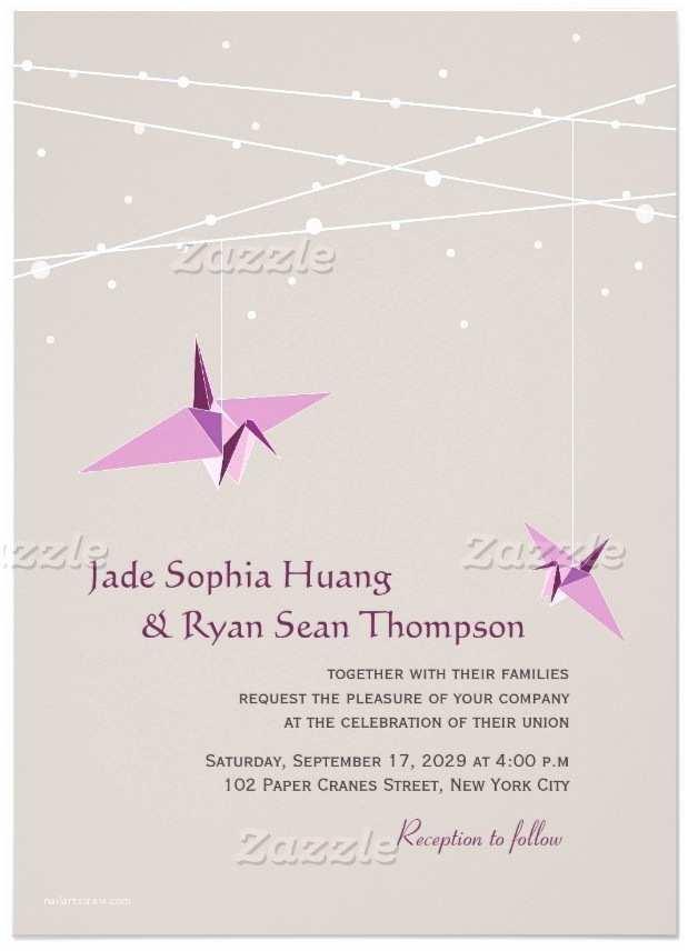 Crane Wedding Invitations Crane Wedding Invitations – Gangcraft