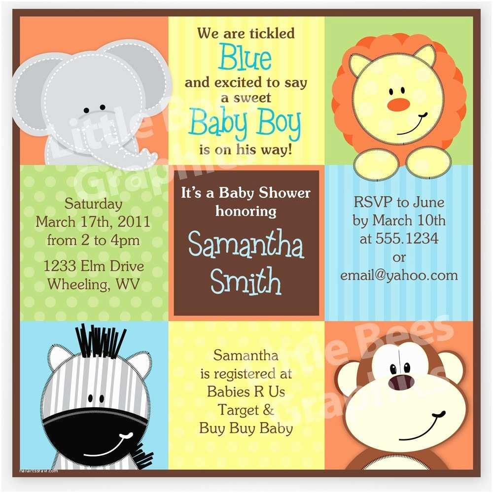 Create Baby Shower Invitations Free Printable Safari Baby Shower Invitations