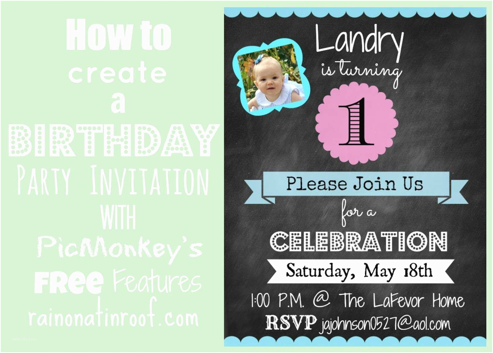 Create Birthday Invitations How to Create An Invitation In Picmonkey