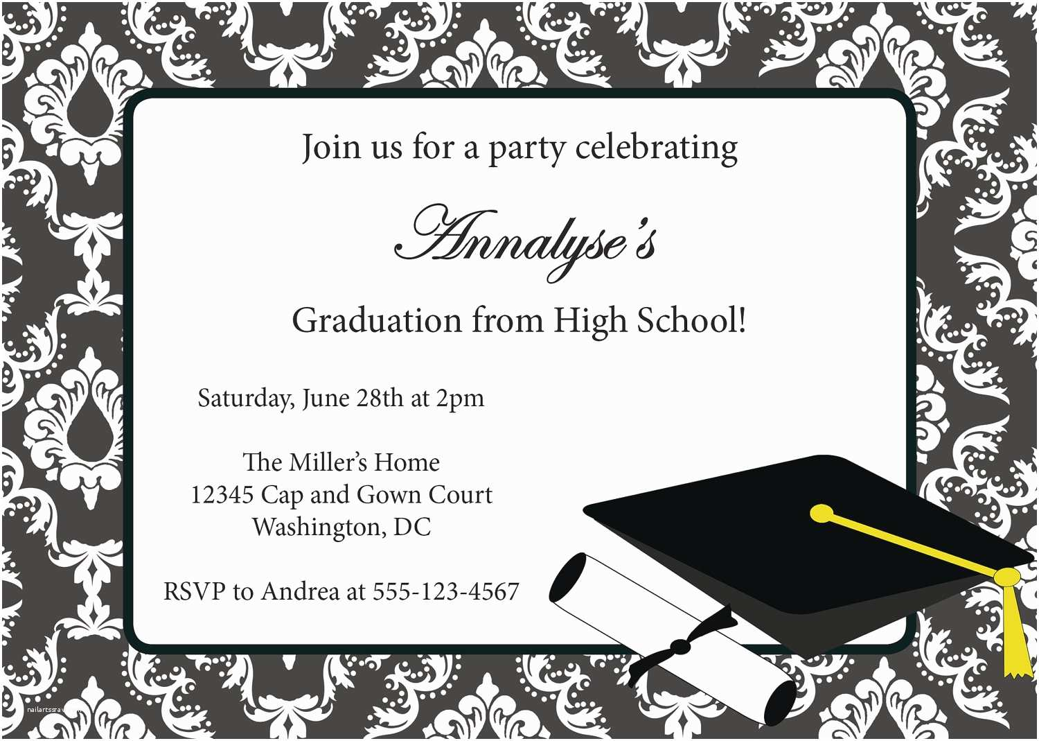 Create Your Own Graduation Invitations Best Pilation Free Graduation Party Invitation