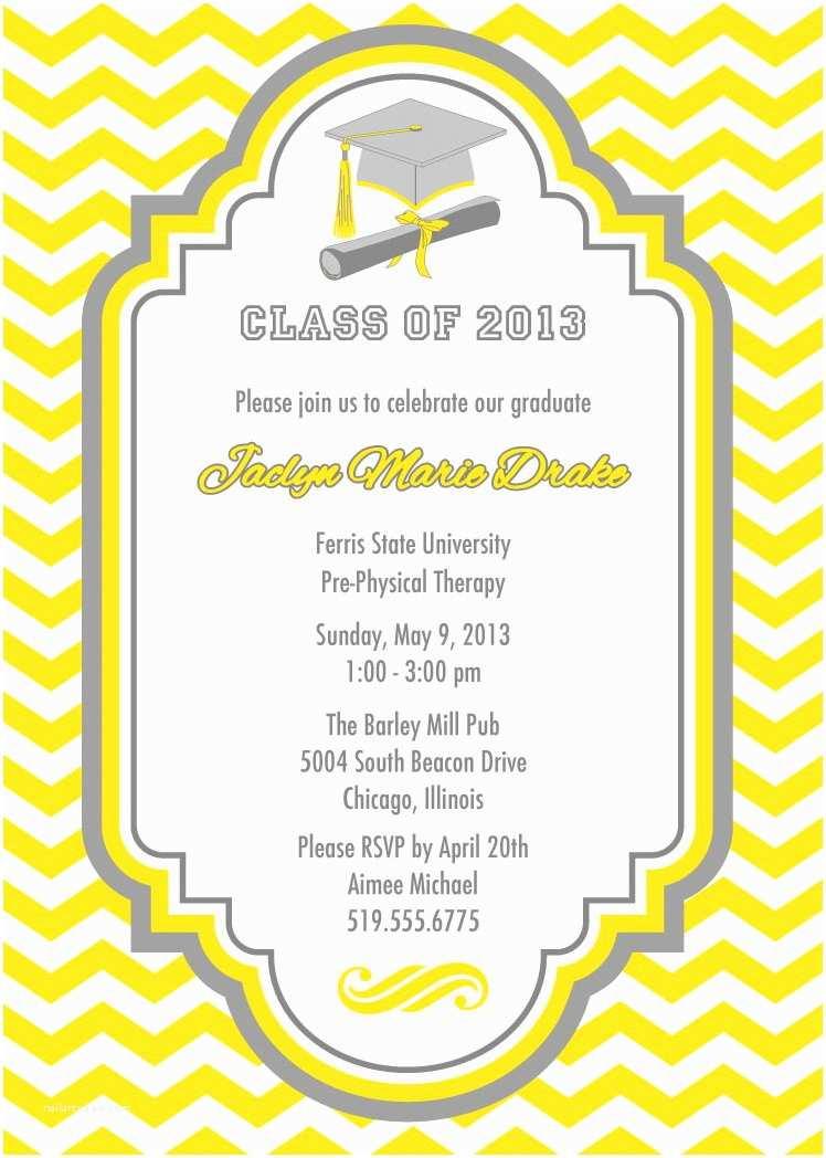 Create Your Own Graduation Invitations Graduation Party Invitation