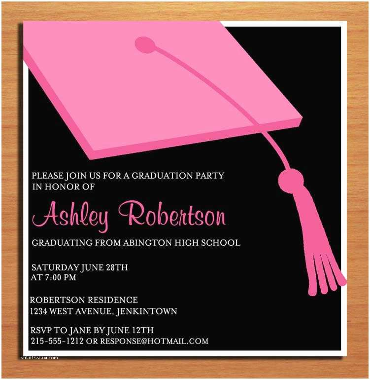Create Your Own Graduation Invitations top 10 Graduation Reception Invitations that Maybe You are
